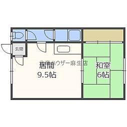 コーポ香川[1階]の間取り