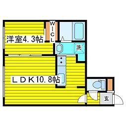 札幌市営東豊線 東区役所前駅 徒歩5分の賃貸マンション 5階1LDKの間取り