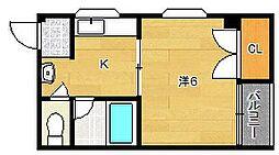 シャンボール茨木[3階]の間取り