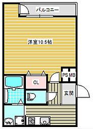 大阪府大阪市住之江区西住之江2丁目の賃貸アパートの間取り