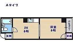 サニーハイツタカヨシ[2階]の間取り