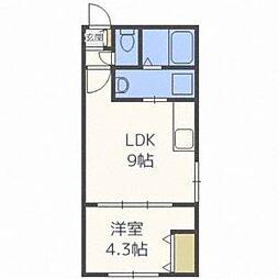北海道札幌市中央区南三条西27丁目の賃貸マンションの間取り