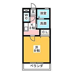 コーポタカト[2階]の間取り