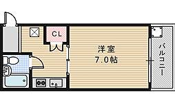 エミネンス阿倍野[203号室]の間取り