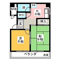 カガ屋ビル[5階]の間取り