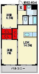 クレフォート皇后崎[4階]の間取り
