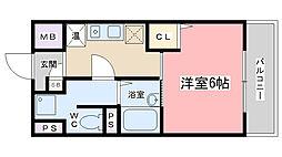 サニーハウス[402号室]の間取り