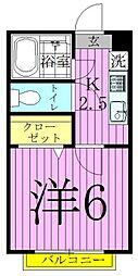 ベルシオン西新井[202号室]の間取り