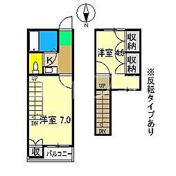 シティガーデン升形[8階]の間取り