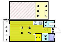 セーヌ和白東[2階]の間取り