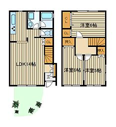 [テラスハウス] 東京都練馬区西大泉2 の賃貸【/】の間取り