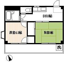 YSマンション[201号室]の間取り