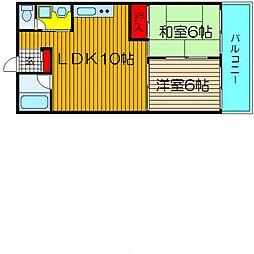 ビジタル湊町3[302号室]の間取り