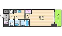 プレサンス大阪福島シエル 5階1Kの間取り