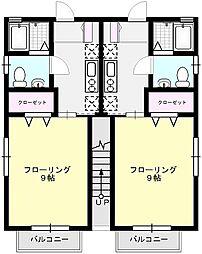 ビームIII[109号室]の間取り
