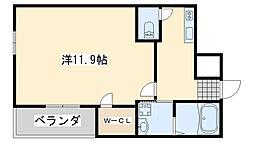 サニーコート日根野2番館 1階1LKの間取り