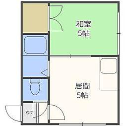 東札幌ハイツB[2階]の間取り
