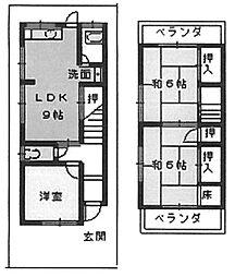 [一戸建] 大阪府堺市中区八田北町 の賃貸【/】の間取り