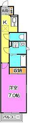 東京都練馬区石神井町2丁目の賃貸アパートの間取り