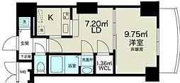 ノルデンタワー新大阪アネックス[22階]の間取り