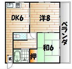 メゾンしらさぎ[3階]の間取り