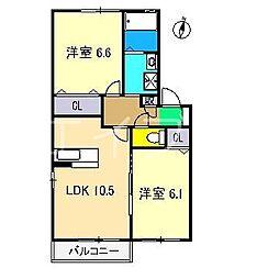 シャーメゾン・ルミナーレ C棟[1階]の間取り