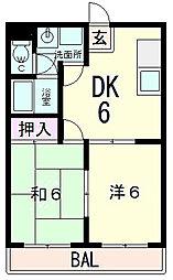滋賀県近江八幡市十王町の賃貸アパートの間取り