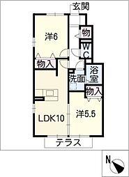 グランドソレーユ B棟[1階]の間取り