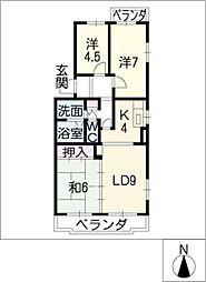 M−APT[1階]の間取り