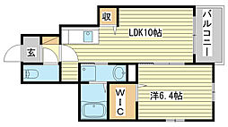 飾磨区加茂アパート[104号室]の間取り