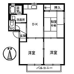グリーンハウス平野 C棟[1階]の間取り