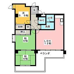 ユニーブル原[1階]の間取り