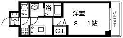 プレサンス谷町九丁目駅前 8階1Kの間取り