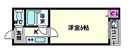 サンスリーハイツ京橋[4階]の間取り