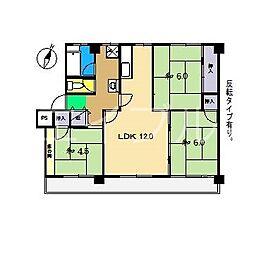 ADDRESSII 1棟[3階]の間取り