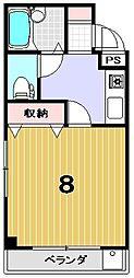 ハイム三木[105号室]の間取り