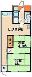 魚住町清水 平屋住宅[1階]の間取り
