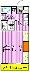 リブリ・松戸[206号室]の間取り