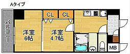 グランパシフィックパークビュー[3階]の間取り