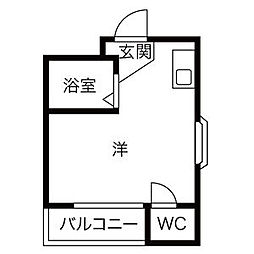 プレアール瓢箪山[305号室]の間取り