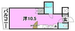 R2マンション[105 号室号室]の間取り