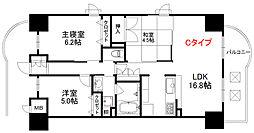 メイプルガーデン梅田 9階3LDKの間取り