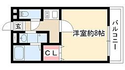 愛知県名古屋市名東区牧の原1丁目の賃貸アパートの間取り