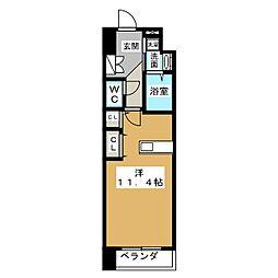 アークデュオ仙台苦竹[3階]の間取り