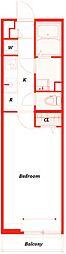 リブリ・材木座[1階]の間取り