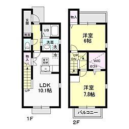 FAMILLE C[2階]の間取り