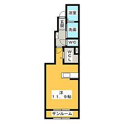 アーコンシェル B[1階]の間取り