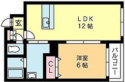 北海道札幌市東区北九条東6丁目の賃貸マンションの間取り