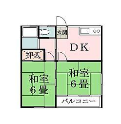 シルクハイツサカイ[2階]の間取り