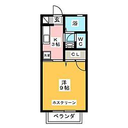 グランドール池田III[2階]の間取り